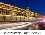 national palace in mexico city... | Shutterstock . vector #1044094993