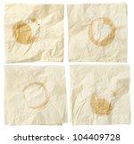 four paper wrinkled napkins... | Shutterstock . vector #104409728