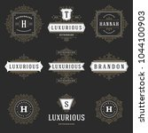 luxury logos templates set ... | Shutterstock .eps vector #1044100903