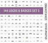 vintage logos design templates... | Shutterstock .eps vector #1044104980