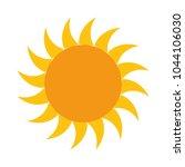 summer sun isolated icon | Shutterstock .eps vector #1044106030