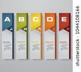 design clean number banners... | Shutterstock .eps vector #1044108166
