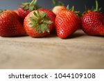 fresh strawberry and blank... | Shutterstock . vector #1044109108
