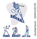 sport background. baseball ... | Shutterstock .eps vector #1044110170