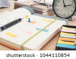 schedule diary notebook with... | Shutterstock . vector #1044110854
