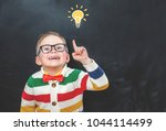 back to school. school child in ... | Shutterstock . vector #1044114499
