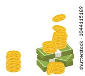 money cartoon vector. free... | Shutterstock .eps vector #1044115189