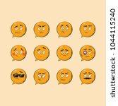 ultimate modern emotions set ... | Shutterstock .eps vector #1044115240