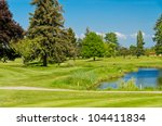 golf course with gorgeous green ... | Shutterstock . vector #104411834