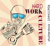 hard work culture text with... | Shutterstock .eps vector #104411906