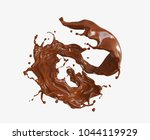 chocolate spiral or twist shape ... | Shutterstock . vector #1044119929