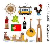 historical symbols of portugal... | Shutterstock .eps vector #1044121129