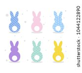 colorful and bright easter...   Shutterstock .eps vector #1044122890