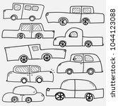 hand drawn vector cars set....   Shutterstock .eps vector #1044123088