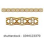 golden  ornamental segment  ... | Shutterstock . vector #1044123370