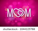 happy mothers day greeting card ... | Shutterstock .eps vector #1044125788