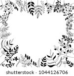 a hand drawn black and white...   Shutterstock .eps vector #1044126706