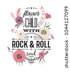 typography poster with flowers... | Shutterstock .eps vector #1044127099