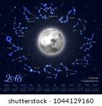 calendar  moon  zodiac... | Shutterstock .eps vector #1044129160