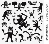 monsters cartoon set  | Shutterstock .eps vector #1044129724