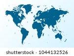 color world map vector | Shutterstock .eps vector #1044132526