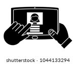 tablet device icon | Shutterstock .eps vector #1044133294