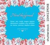 square flower frame of... | Shutterstock .eps vector #1044139048