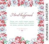 square flower frame of... | Shutterstock .eps vector #1044139354