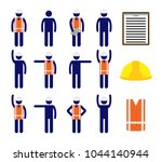 isolated vector icons set of... | Shutterstock .eps vector #1044140944