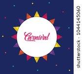 carnival circus design | Shutterstock .eps vector #1044145060