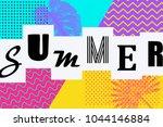 art deco summer background... | Shutterstock .eps vector #1044146884