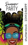 black woman in sunglasses... | Shutterstock .eps vector #1044146899