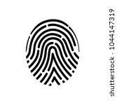 fingerprint of the person. | Shutterstock .eps vector #1044147319