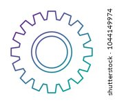 gears machine isolated icon