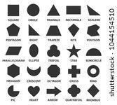 simple geometric shapes. black... | Shutterstock .eps vector #1044154510