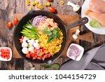 one pot pasta | Shutterstock . vector #1044154729