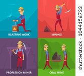 concept illustrations of miners ... | Shutterstock .eps vector #1044156733