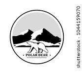 polar bear symbol on a... | Shutterstock .eps vector #1044159070