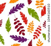 simple leaves pattern isolated... | Shutterstock .eps vector #1044160510