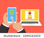 two steps authentication... | Shutterstock .eps vector #1044161023