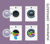 wash machine set | Shutterstock .eps vector #1044163270