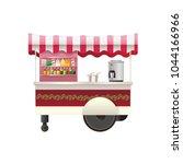 street counter  stall  street... | Shutterstock .eps vector #1044166966