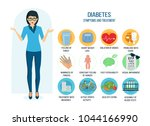 diabetes prevention  symptoms ... | Shutterstock .eps vector #1044166990