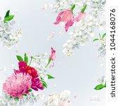 Summer Vintage Floral Vector...