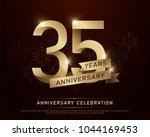 35th years anniversary... | Shutterstock .eps vector #1044169453