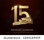 15th years anniversary... | Shutterstock .eps vector #1044169459