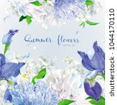 summer vintage floral vector... | Shutterstock .eps vector #1044170110