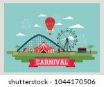 circus carnival design | Shutterstock .eps vector #1044170506