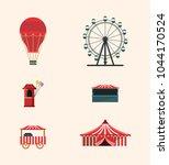carnival circus design | Shutterstock .eps vector #1044170524