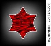 star of david. vector. icon...   Shutterstock .eps vector #1044171004